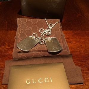 Authentic Gucci dog tags